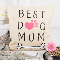 Personalised Natural Cushion - Best Dog - Dog Gifts