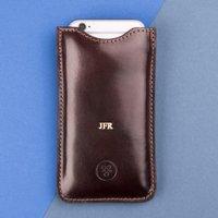 Embossed Gruppo 6 Italian Leather iPhone 6/7 Sleeve - Italian Gifts