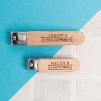 Personalised Wooden Nail Clippers - Set Of Two - Nail Gifts