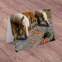 Personalised Card - Horse Carrots - Horse Gifts