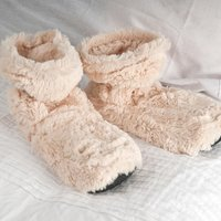 Cozy Boots™ Cream Microwavable Slipper Boots - Mother's Day - Boots Gifts