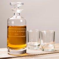 Engraved Decanter & Shot Glass Set - Shot Glass Gifts