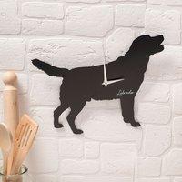 Labrador Silhouette Wall Clock - Labrador Gifts