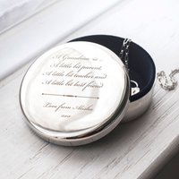 Engraved Circular Trinket Box - A Grandma Is - Grandma Gifts