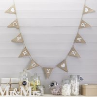 A Vintage Affair Candy Bar Hessian Bunting - Candy Gifts