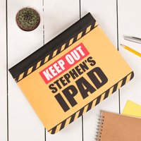Personalised iPad Case - Keep Out