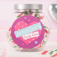 Personalised Candy Canes - Heart - Candy Gifts