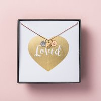 Personalised Posh Totty Designs Loved Mini Disc Necklace - Posh Gifts