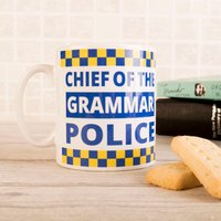Photo Upload Mug - Grammar Police - Police Gifts