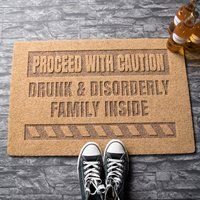 Personalised Proceed With Caution Outdoor Doormat - Outdoor Gifts