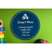 Personalised New Baby Plaque - Baby Gifts