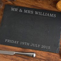 Personalised Wedding Slate Cheeseboard