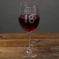 Image of Personalised Wine Glass - Finally 18