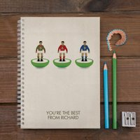 Personalised Notebook - Table Top Football - Football Gifts