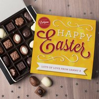Personalised Belgian Chocolates - Happy Easter