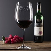 Engraved Giant Wine Glass - Liquid Diet - Wine Glass Gifts