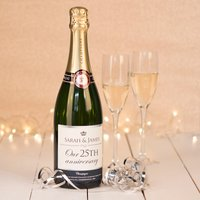 Luxury Personalised Champagne - Our 25th Anniversary - Silver Wedding Anniversary Gifts