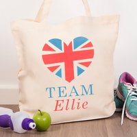 Personalised Tote Bag - Union Jack Team - Union Jack Gifts