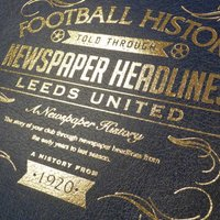Personalised Leeds United Football Book - Football Gifts