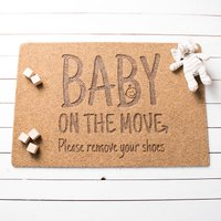 Personalised Baby On The Move Outdoor Doormat - Outdoor Gifts
