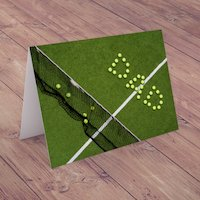 Personalised Card - Tennis Ball Court - Tennis Gifts