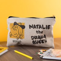 Personalised Beano Big Heads Canvas Pencil Case - Minnie - Pencil Case Gifts