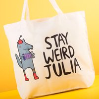 Personalised Katie Abey Tote Bag - Stay Weird - Weird Gifts