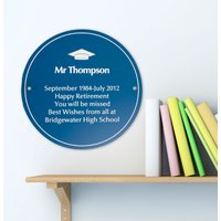 Personalised Best Teacher Plaque - Teacher Gifts