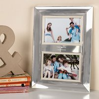 Engraved Double Picture Frame with Pearls - Pearls Gifts