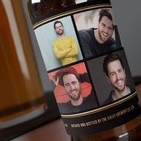 Photo Upload Beer - Black & Gold, 4 Photos - Beer Gifts