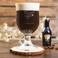 Personalised Irish Coffee Glass With Baileys Miniature - Let's Pretend - Baileys Gifts