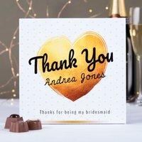 Personalised Belgian Chocolates – Thank You Gold Range - Chocolates Gifts