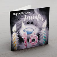 Personalised Me To You Card - 16 Candles - Seek Gifts