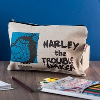 Personalised Beano Big Heads Canvas Pencil Case - Gnasher - Pencil Case Gifts