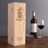 Personalised Luxury Wooden Wine Box - 18th Birthday - 18th Gifts