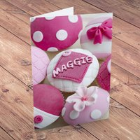 Personalised Card - Pink Cupcakes - Cupcakes Gifts