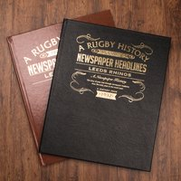 Personalised Rugby League Book - For Your Team - Rugby Gifts