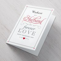 Personalised Valentine's Card - My Husband My Forever - Valentines Day Gifts