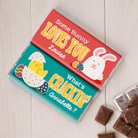 Personalised Set Of Two Chocolate Bars - Easter Chocolate