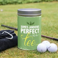 Golf Gift Set In Personalised Tin - Perfect To A Tee