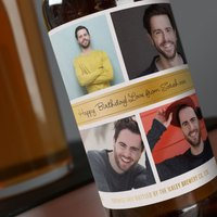 Photo Upload Beer - Gold, 4 Photos - Beer Gifts