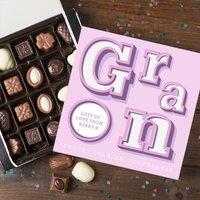 Personalised Belgian Chocolates - Gran - Chocolates Gifts