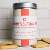 Personalised Tin With Biscuits - Mummys Survival Kit