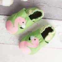 Personalised Flamingo  Baby Shoes - Baby Gifts