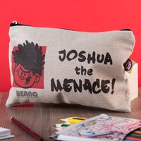 Personalised Beano Big Heads Canvas Pencil Case - Dennis - Beano Gifts