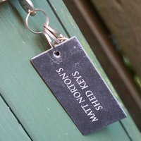 Engraved Slate Key Ring - Key Ring Gifts