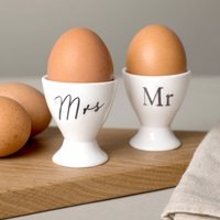 Mr & Mrs Egg Cups - Cups Gifts