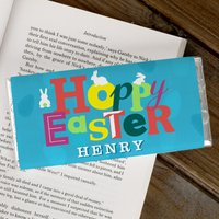 Personalised Chocolate Bar - Hoppy Easter