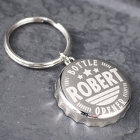 Personalised Bottle Top Keyring With Bottle Opener - Stars - Bottle Opener Gifts