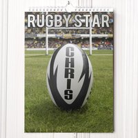 Personalised Rugby Calendar - New Edition - Rugby Gifts
